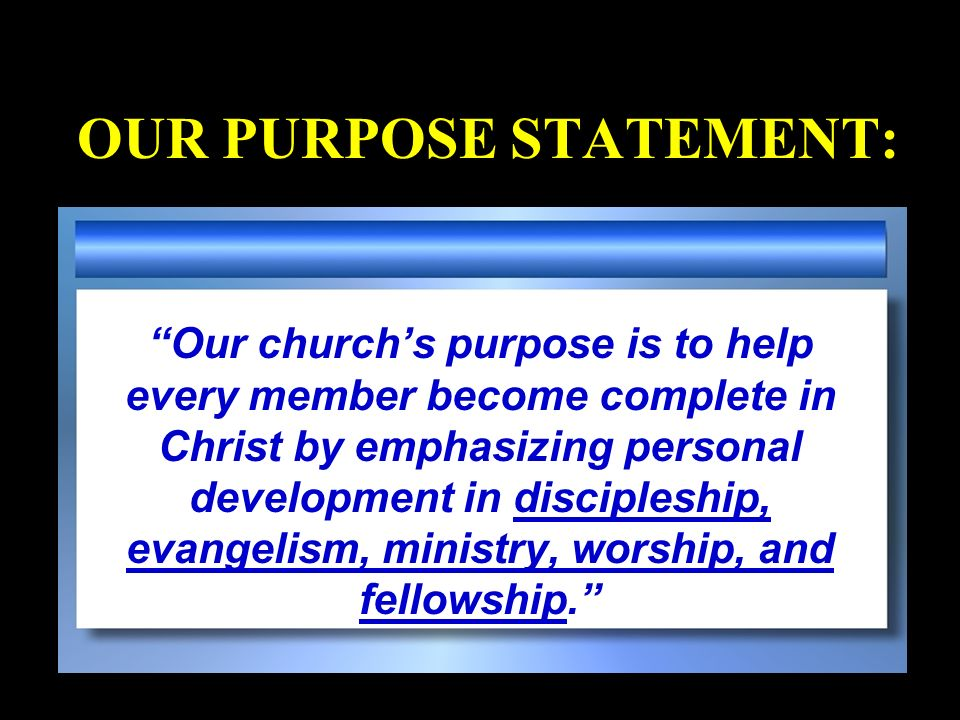 PROVERBS 29:18 Where there is no vision, the people perish. Every growing church has a vision; every dying church has lost its vision.