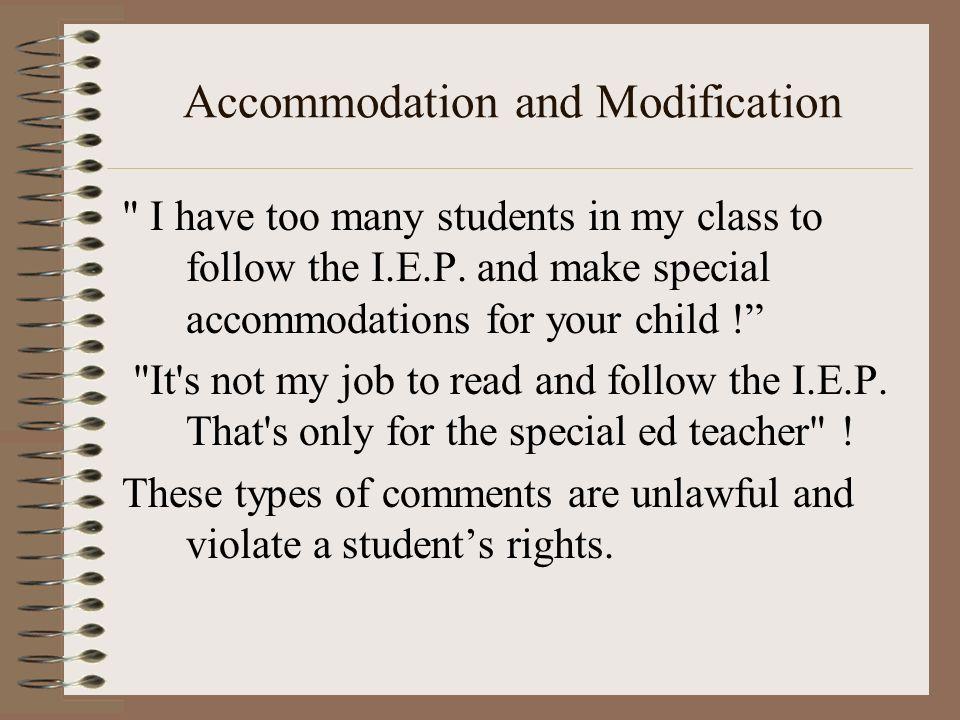 Accommodation and Modification