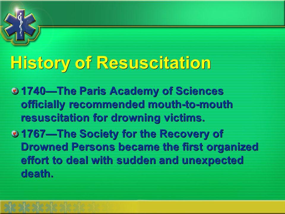 History of Resuscitation 1891Dr.