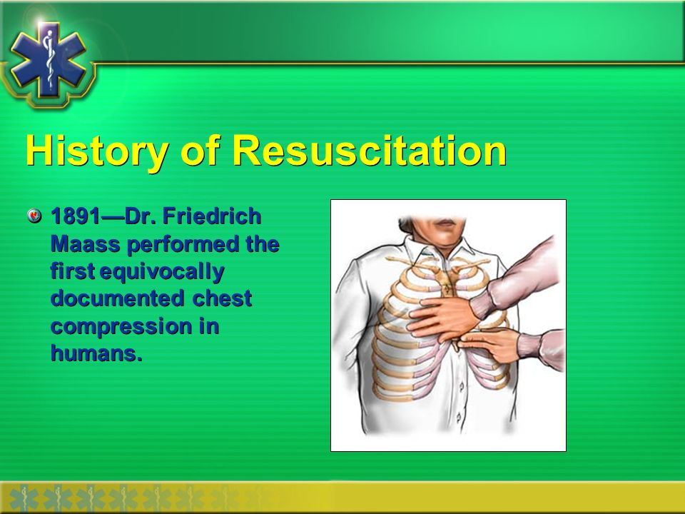 History of Resuscitation 1903Dr.
