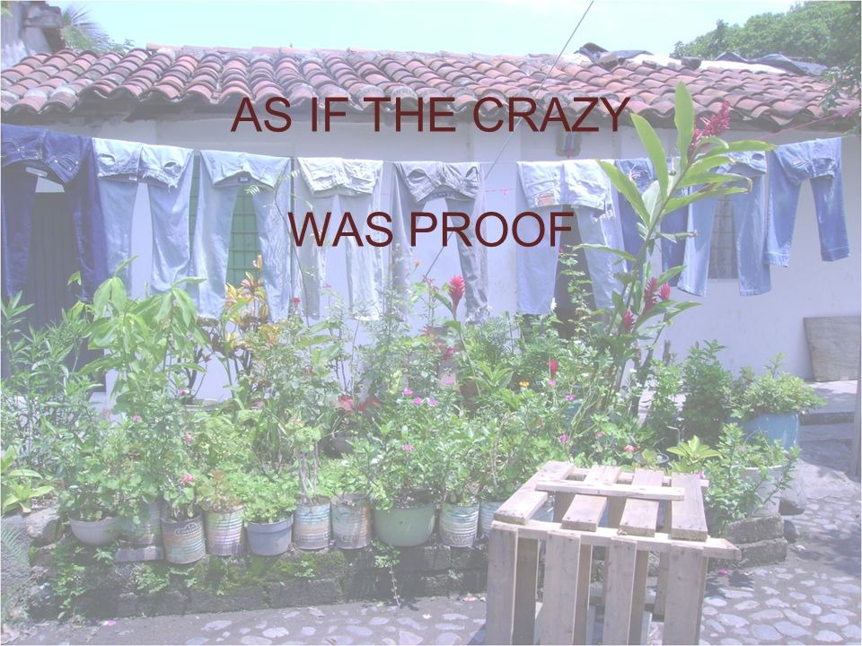 AS IF THE CRAZY WAS PROOF
