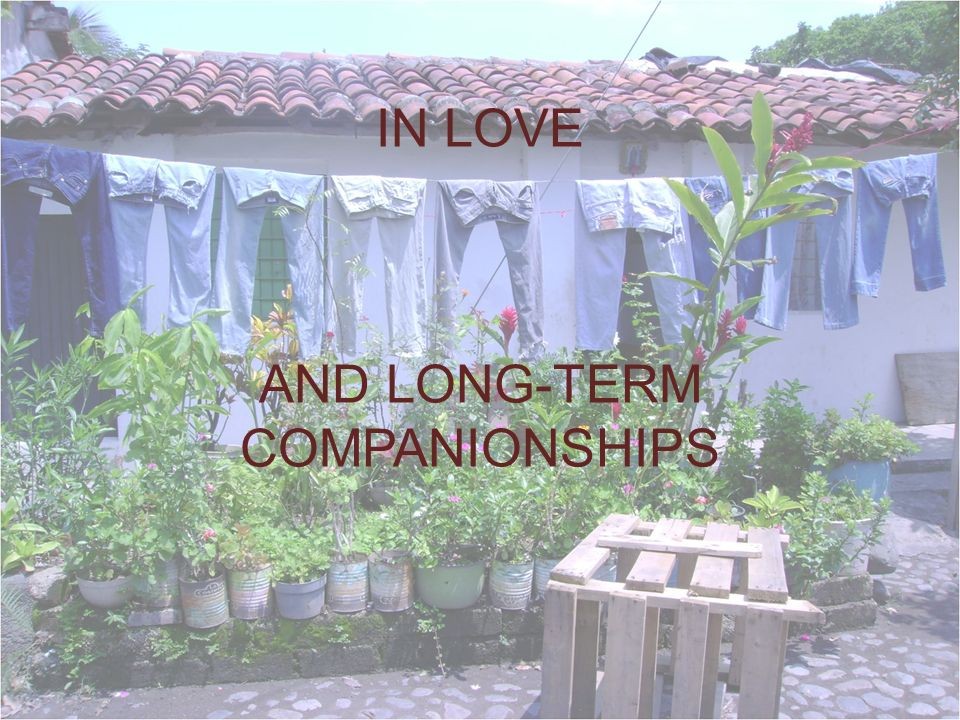 IN LOVE AND LONG-TERM COMPANIONSHIPS