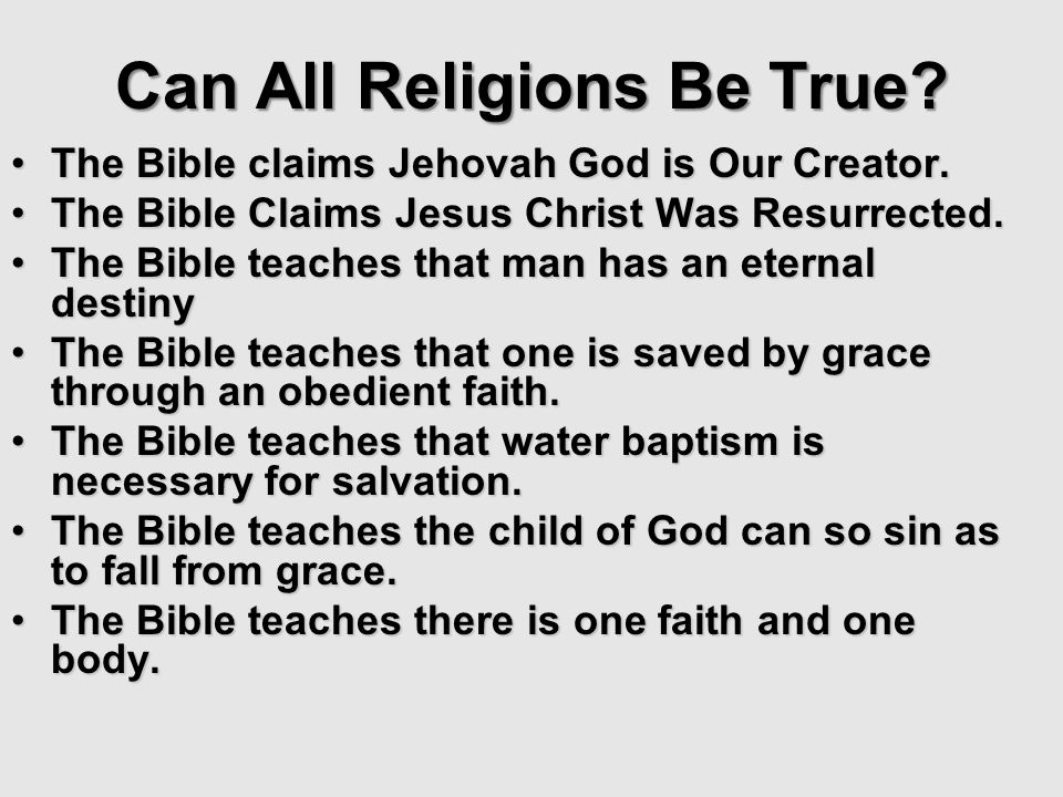 The Bible claims Jehovah God is Our Creator.The Bible claims Jehovah God is Our Creator. The Bible Claims Jesus Christ Was Resurrected.The Bible Claim