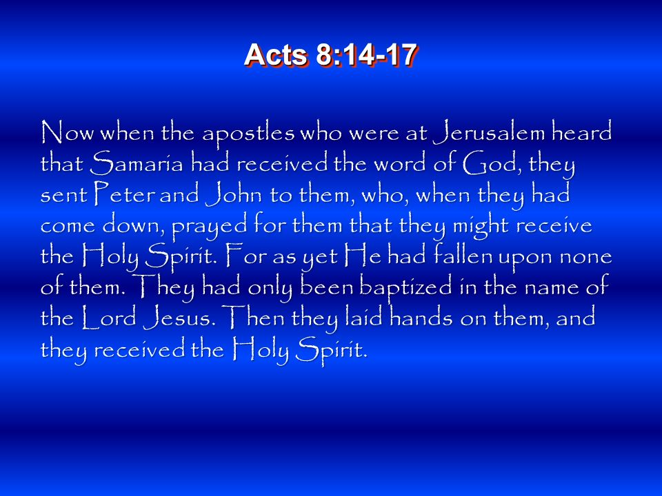 And when Simon saw that through the laying on of the apostles hands the Holy Spirit was given, he offered them money, saying, Give me this power also, that anyone on whom I lay hands may receive the Holy Spirit. Acts 8:18-19