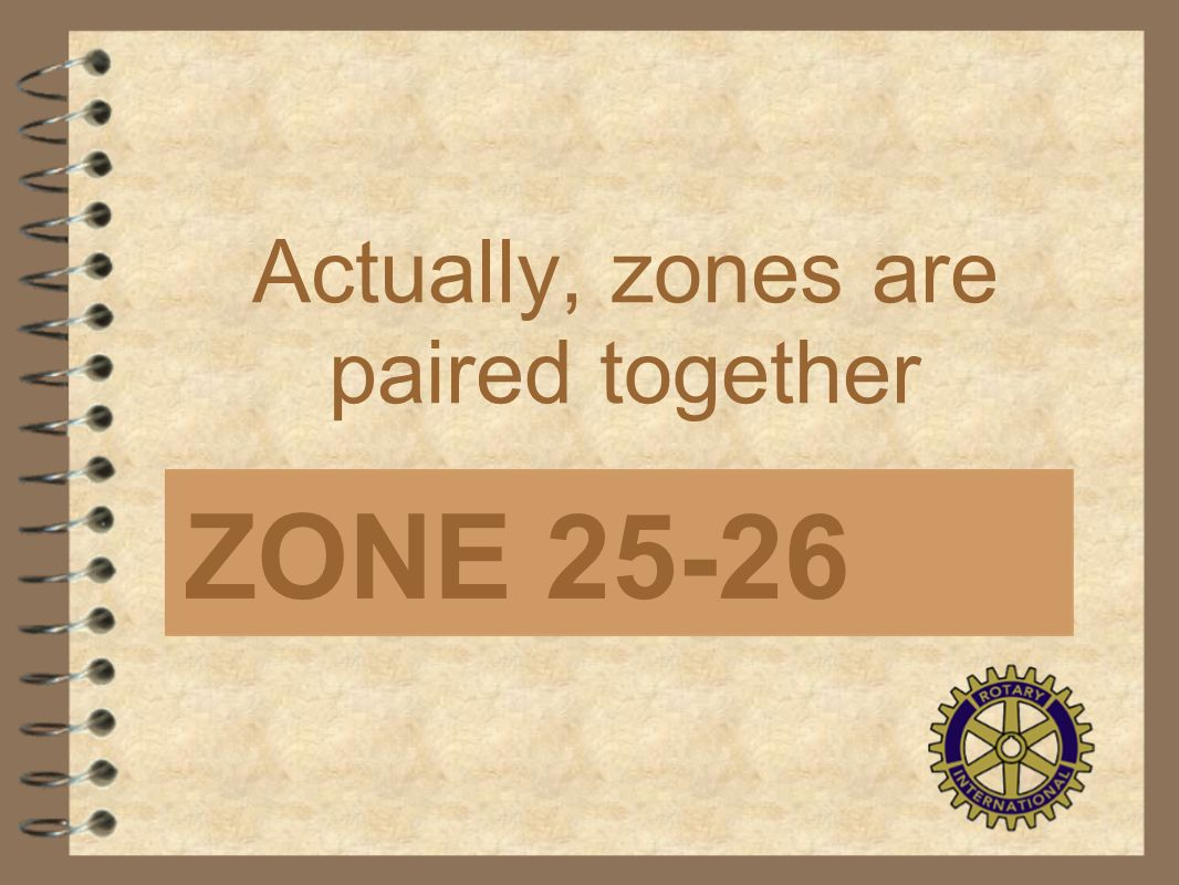 Actually, zones are paired together ZONE 25-26