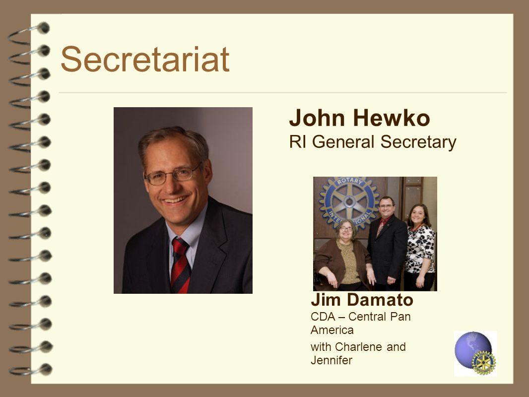Secretariat John Hewko RI General Secretary Jim Damato CDA – Central Pan America with Charlene and Jennifer