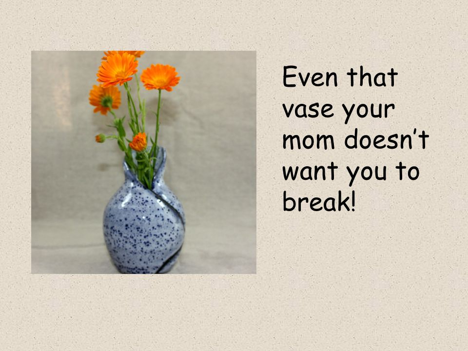 Even that vase your mom doesnt want you to break!