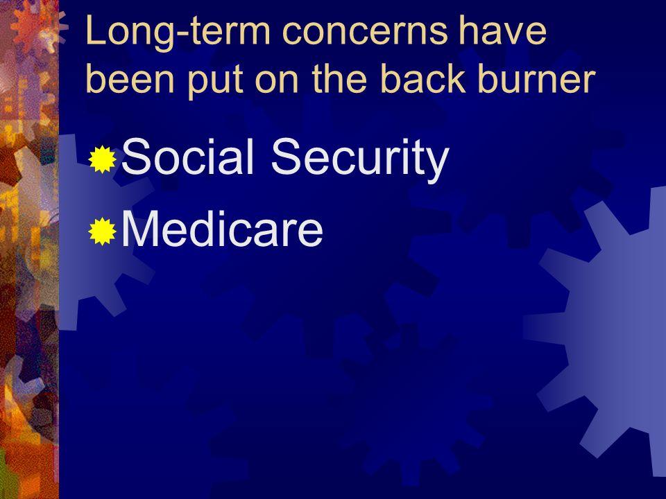 Long-term concerns have been put on the back burner Social Security Medicare