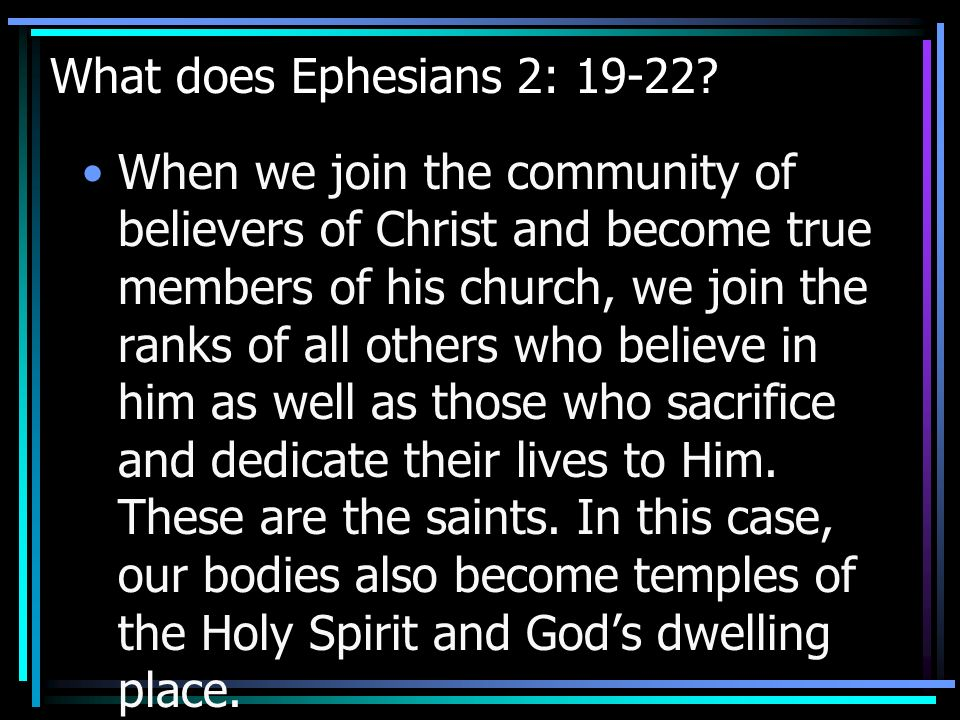 What does this text say about the Church.Christ is the center of the Church.