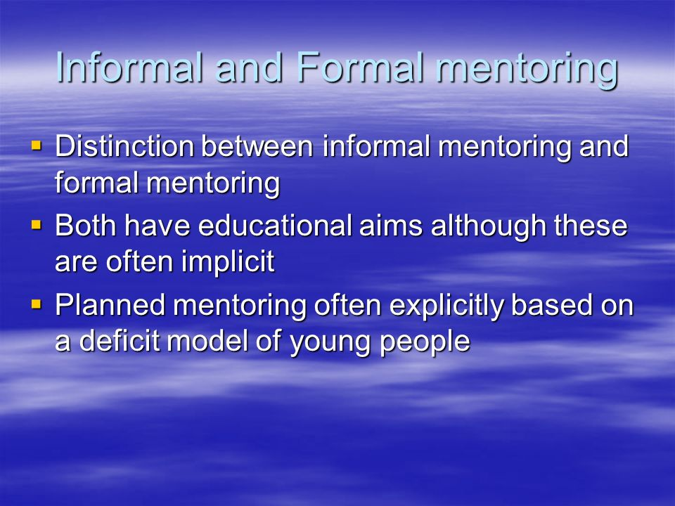 Informal Mentoring Active participation Active participation Resolving conflict, renegotiating relationships, trying out new identity Resolving conflict, renegotiating relationships, trying out new identity A safe setting in which to take risks in learning – leaving the baggage behind A safe setting in which to take risks in learning – leaving the baggage behind Chess as a starting point.