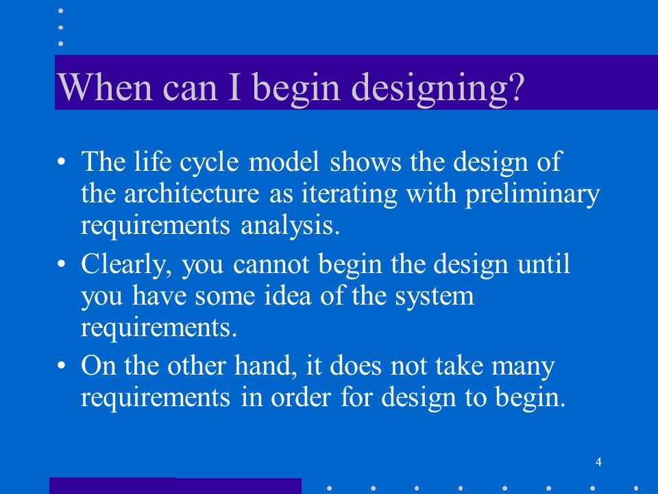 5 5.2 Designing the architecture In this section we describe a method for designing an architecture to satisfy both quality requirements and functional requirements.