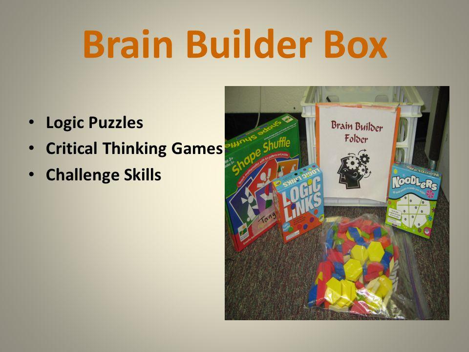 Brain Builder Box Logic Puzzles Critical Thinking Games Challenge Skills