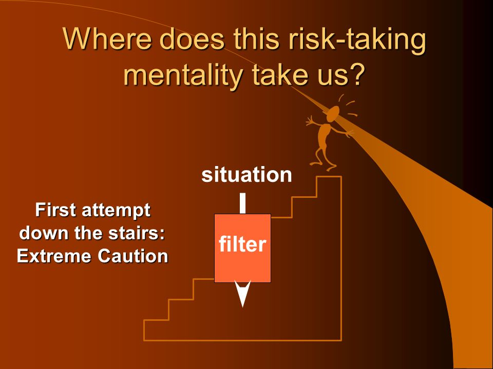 Where does this risk-taking mentality take us situation filter outcome