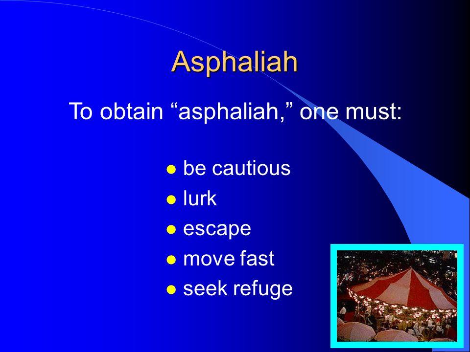 Asphaliah... l security l protection l invulnerability l refuge l shelter l sanctuary l asylum l safeness l impregnability l peril l jeopardy l hazard