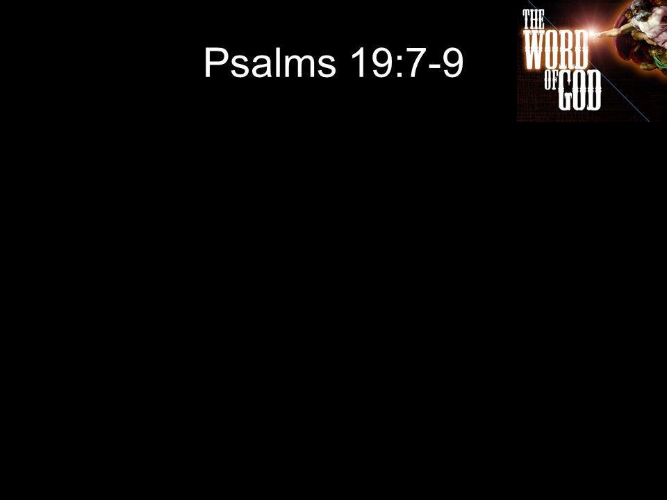 Psalms 19:7-9