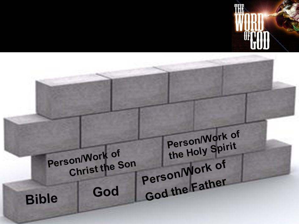 Bible Person/Work of God the Father God Person/Work of Christ the Son Person/Work of the Holy Spirit