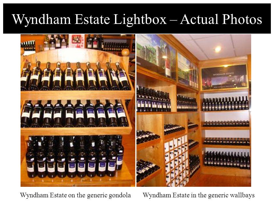 Wyndham Estate Lightbox – Actual Photos Wyndham Estate on the generic gondolaWyndham Estate in the generic wallbays
