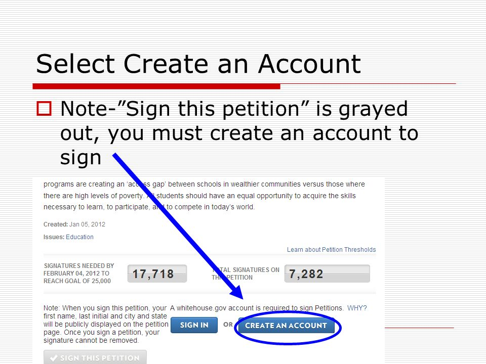 Creating your account Fill in the blanks (as required) Click Register