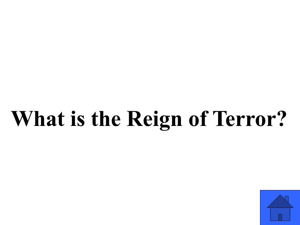 What is the Reign of Terror