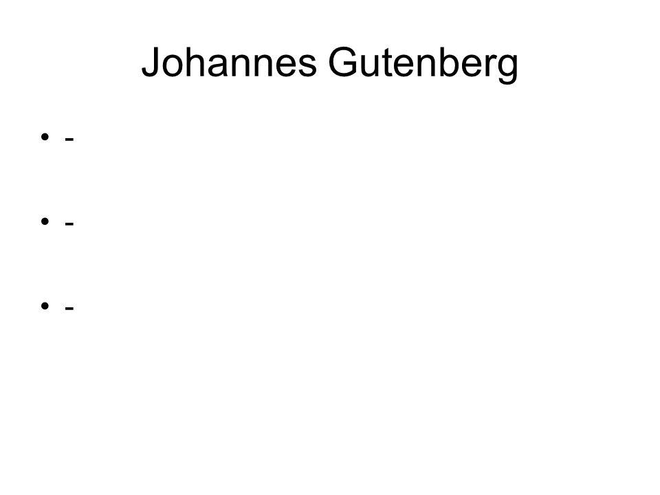 Johannes Gutenberg -