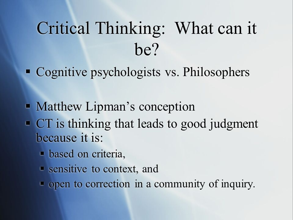 Michellis Analysis The meaning of access to knowledge The meaning of critical thinking Why within the disciplines? What about procedural knowledge? Th