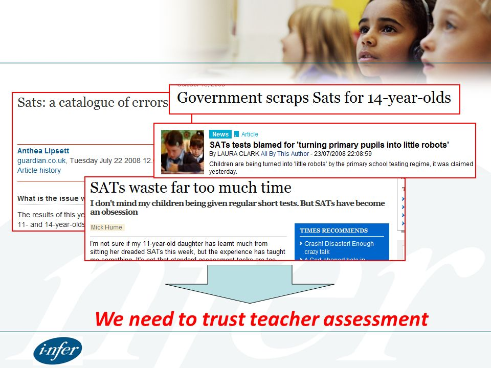 Agenda The Changing Assessment Landscape What does this mean for a school.