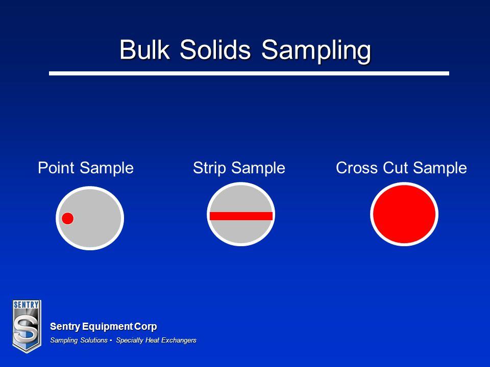 Sentry Equipment Corp Sampling Solutions Specialty Heat Exchangers Bulk Solids Sampling Point SampleStrip SampleCross Cut Sample