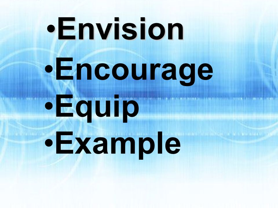 Encourage Equip Example EnvisionEnvision