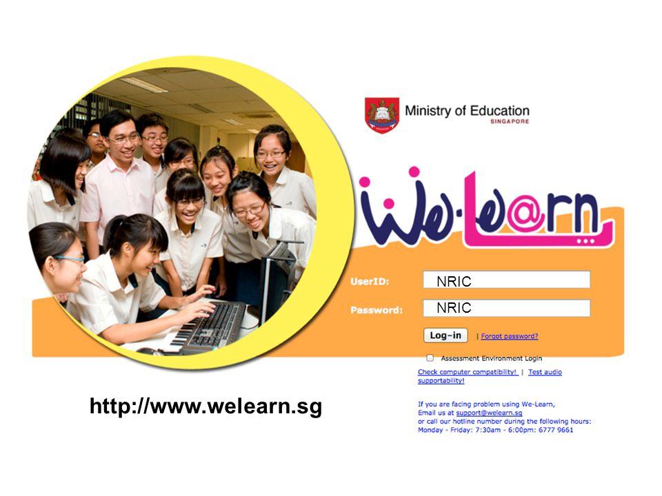 http://www.welearn.sg NRIC