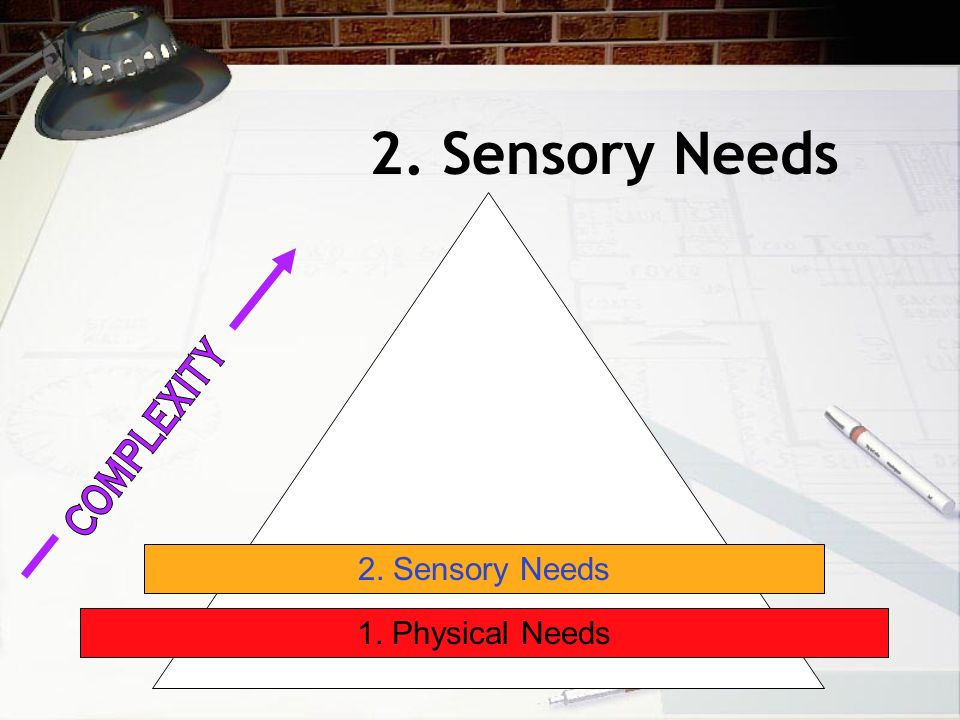 2. Sensory Needs 1. Physical Needs 2. Sensory Needs