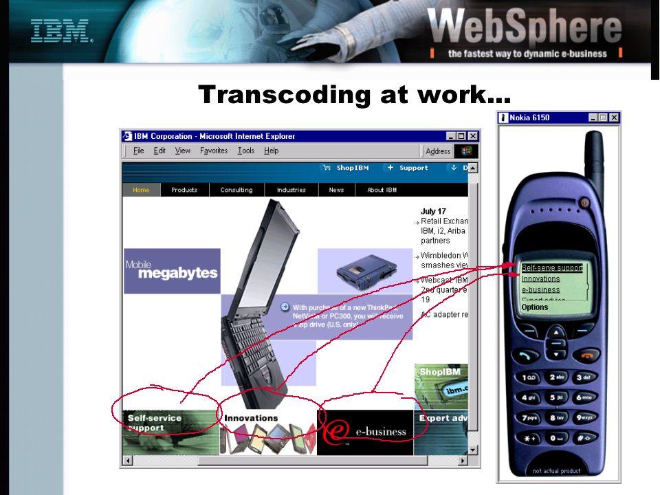 Transcoding at work...