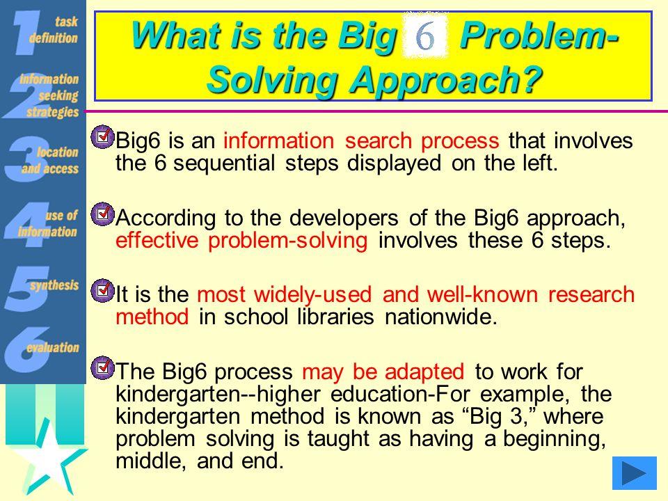 The Big6 Competencies: An Introduction Elisa Moskowitz, April Gilbert, Iris Nelson, Michelle Loera, Robin Schiff, Jennifer Duarte This presentation is