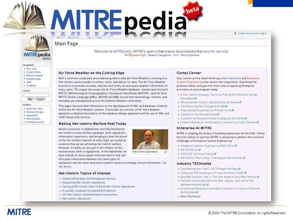 © 2009 The MITRE Corporation. All rights Reserved.