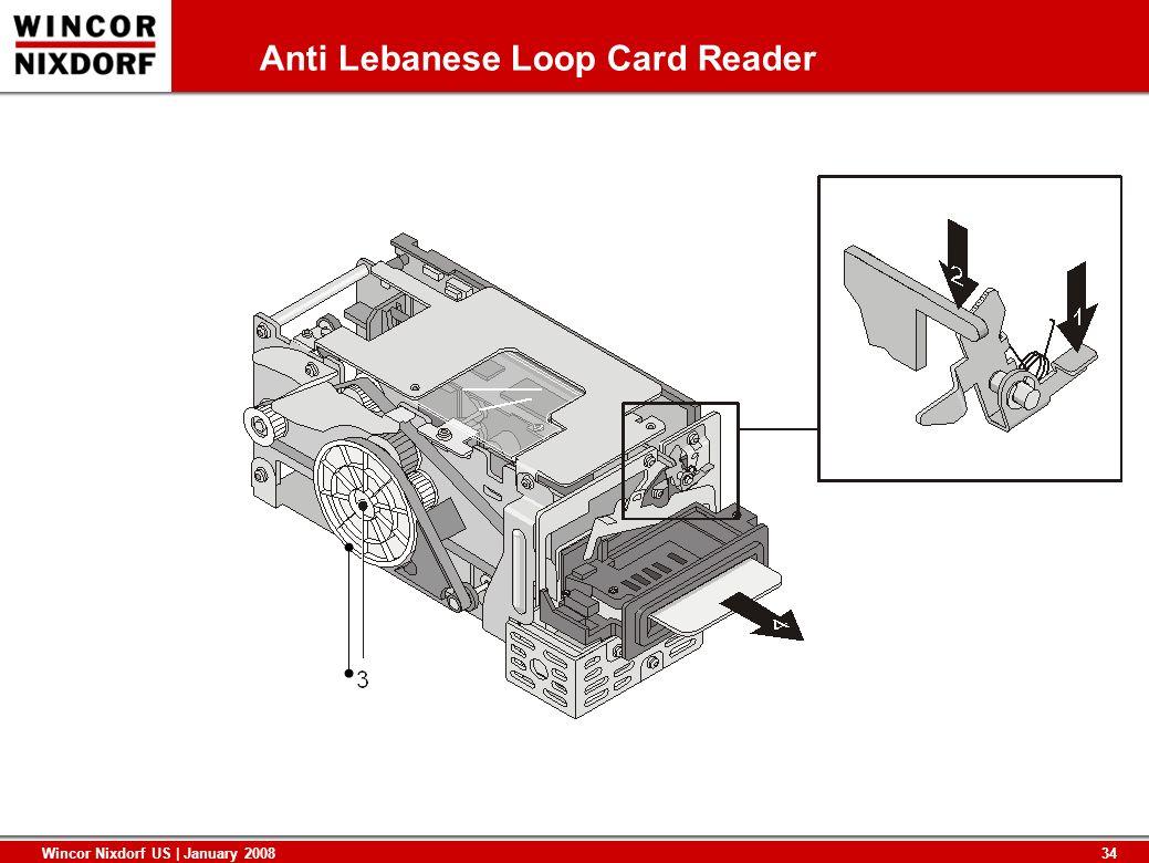 34 Wincor Nixdorf US | January 2008 Anti Lebanese Loop Card Reader