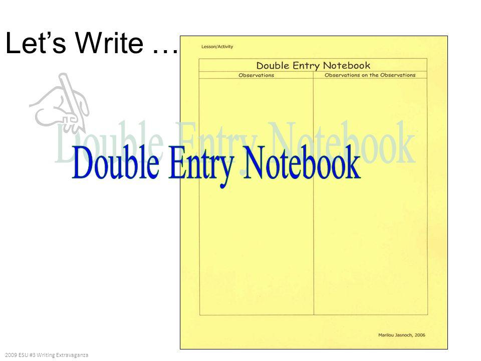 Lets Write … 2009 ESU #3 Writing Extravaganza