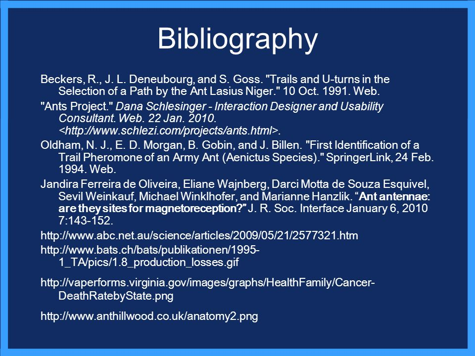 Bibliography Beckers, R., J. L. Deneubourg, and S.