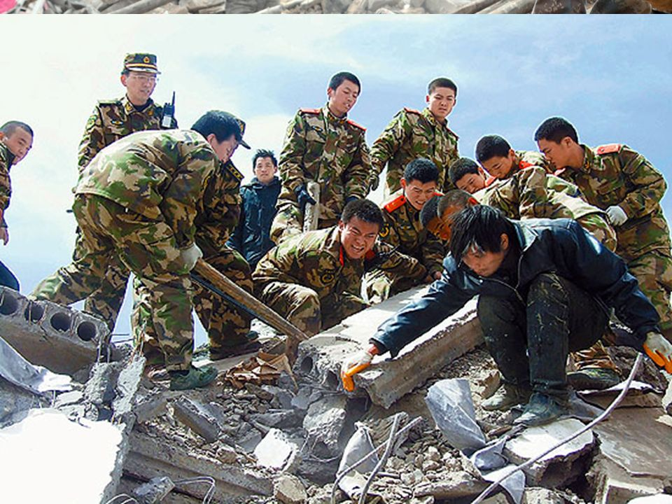 The disaster area in Yushu,Qinghai