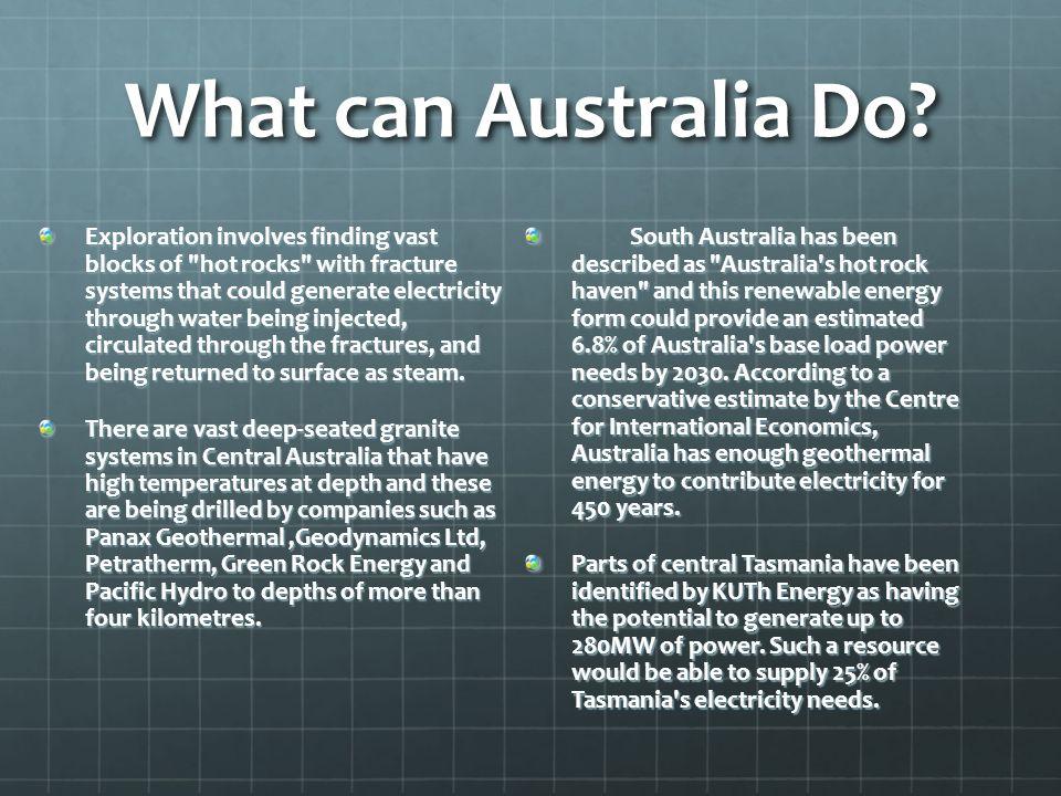 What can Australia Do? Exploration involves finding vast blocks of