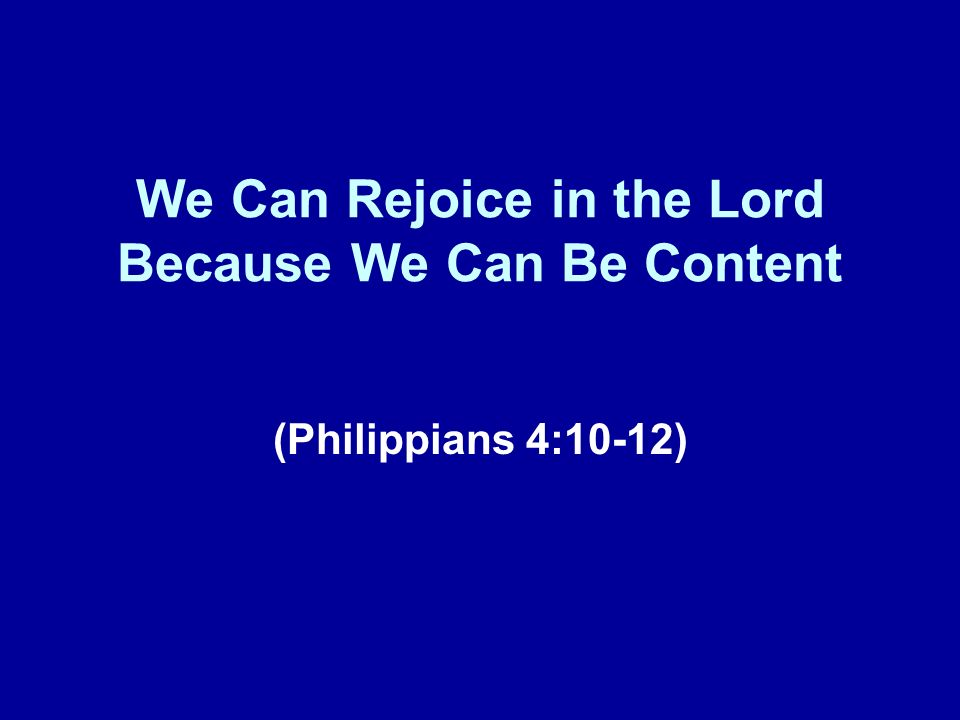 A Brief Review Our lesson today represents the 17 th installment in this series of lessons taken from the book of Philippians.
