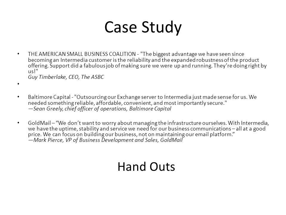Case Study THE AMERICAN SMALL BUSINESS COALITION -