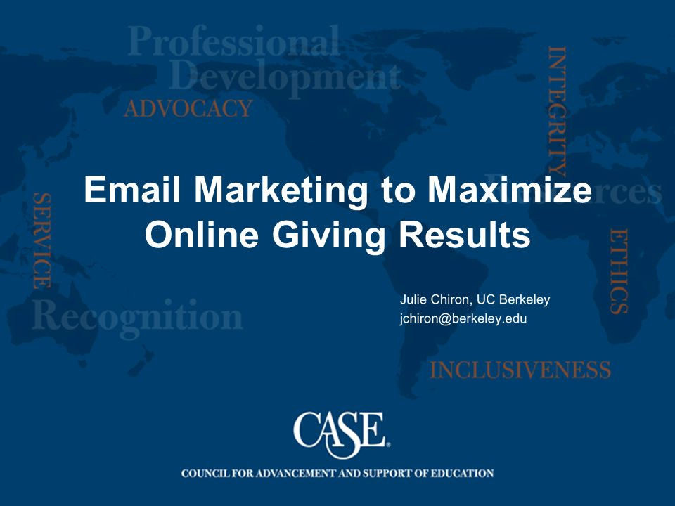 Marketing to Maximize Online Giving Results