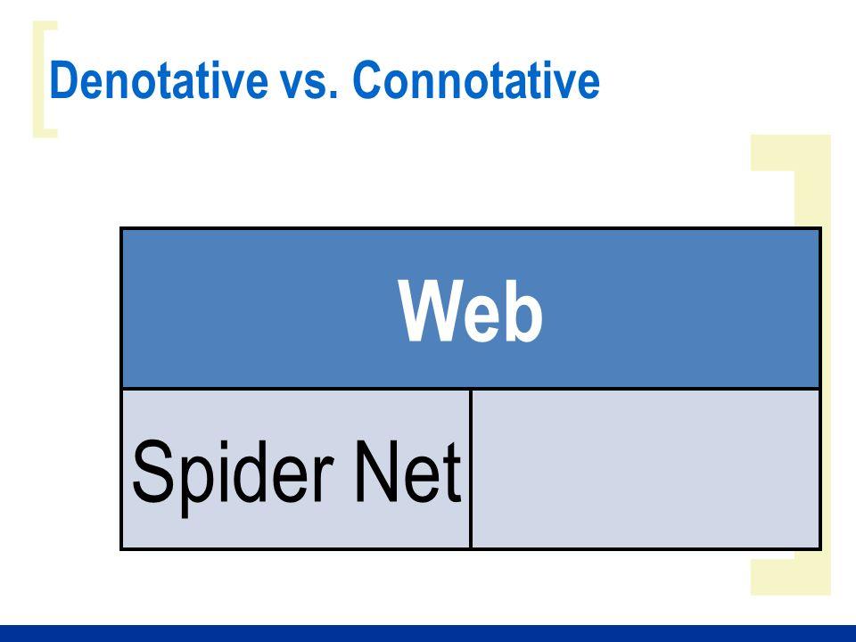 ] [ Denotative vs. Connotative Web Spider Net