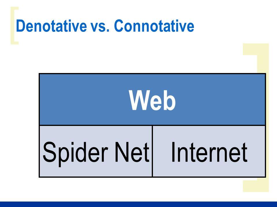 ] [ Denotative vs. Connotative Web Spider NetInternet
