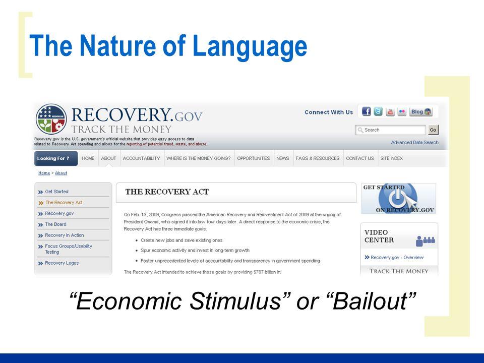 ] [ Economic Stimulus or Bailout