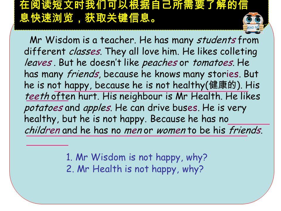 Wisdom( ) Health Mr Wisdom Mr Health