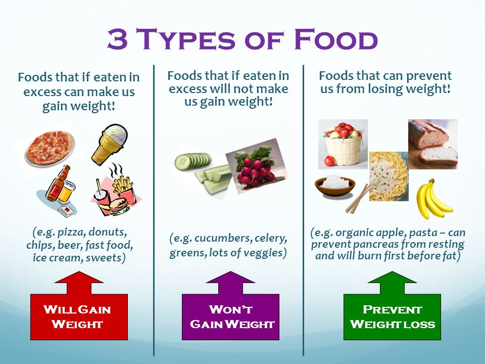 3 Types of Food Foods that if eaten in excess will not make us gain weight.
