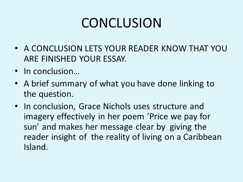 Conclusion on poverty essay