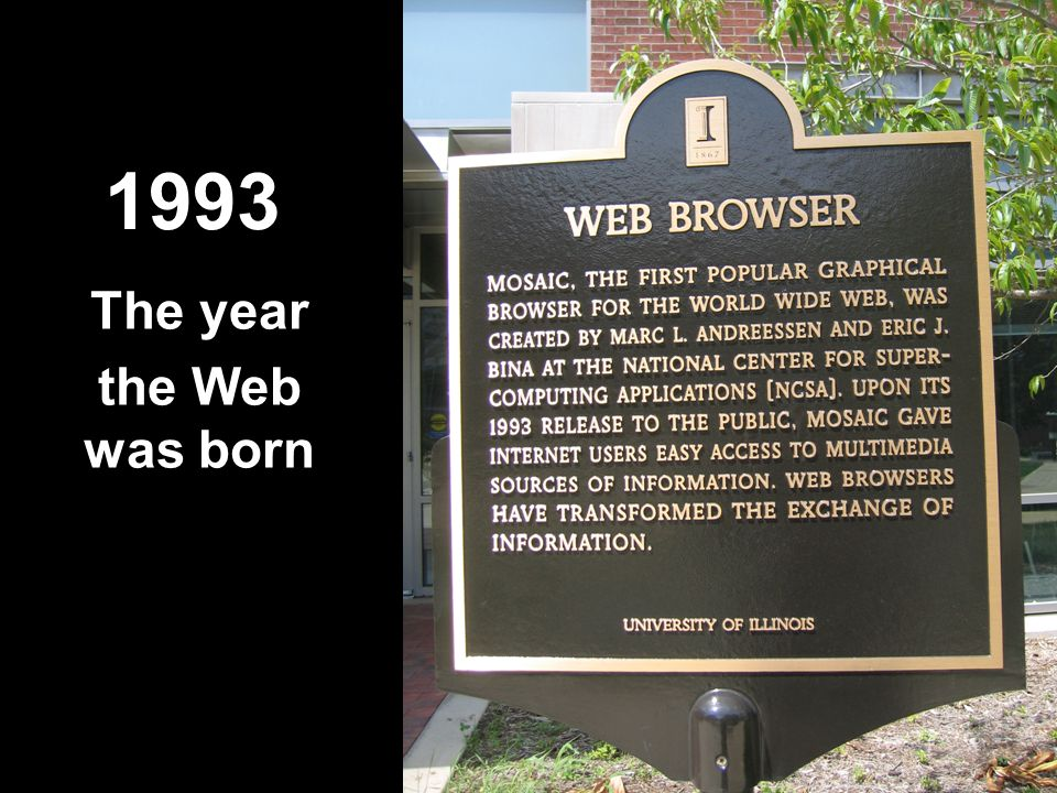 1993 The year the Web was born
