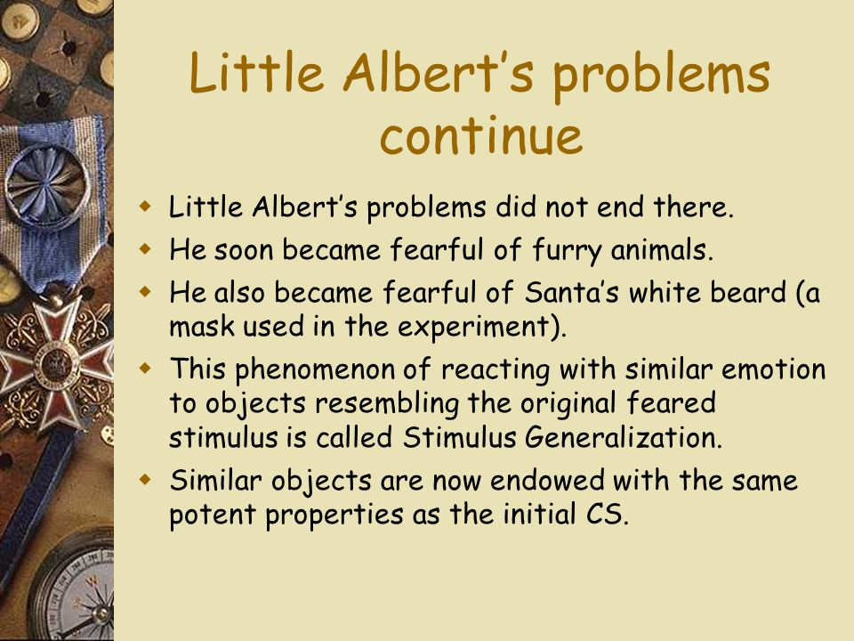 Little Alberts problems continue Little Alberts problems did not end there.