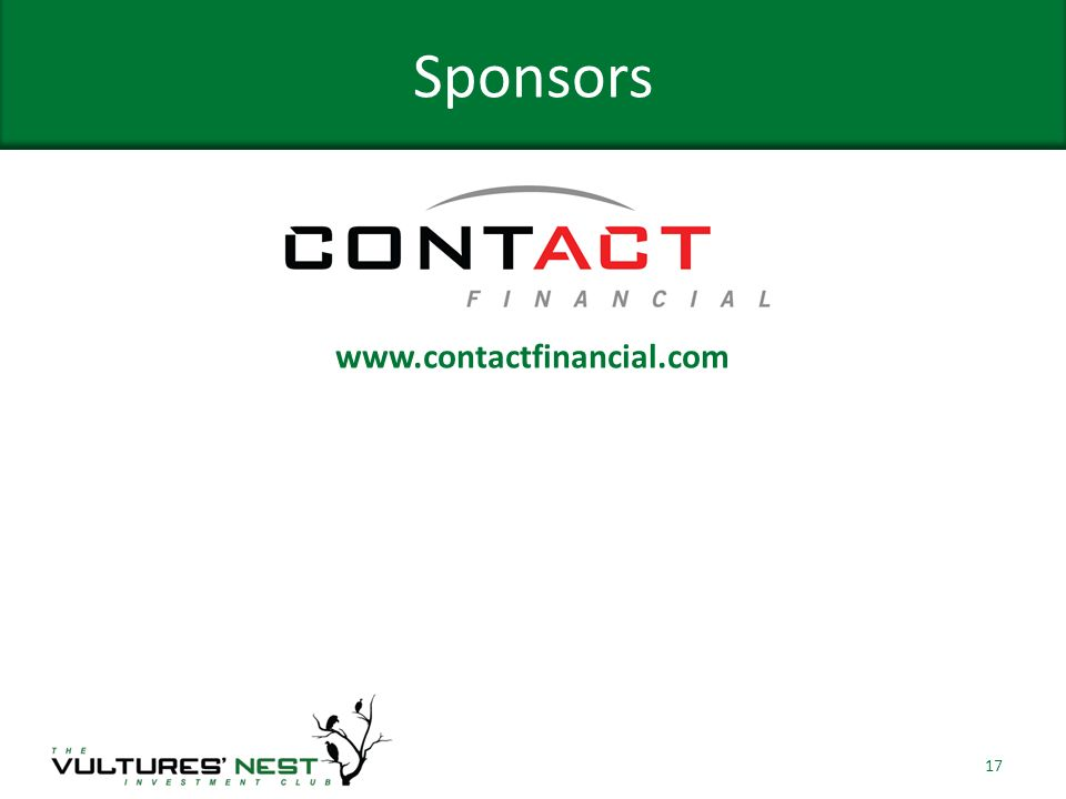 Sponsors 17 www.contactfinancial.com